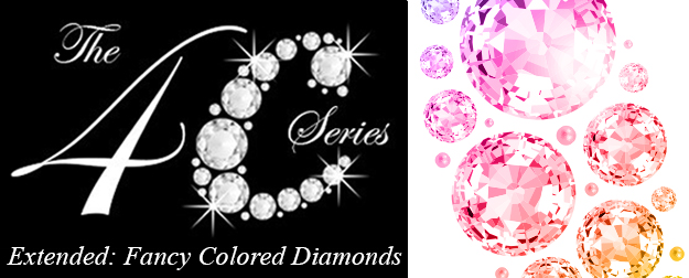 Sparkling colored loose diamonds and term 4C as gemstones