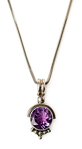 Amethyst jewelry necklace
