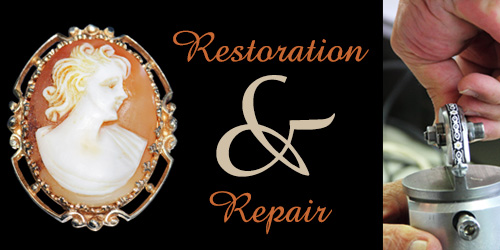 vintage cameo and jeweler repair