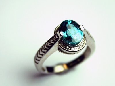 Zircon ring available in Gilbert jewelry store Forever Diamonds.